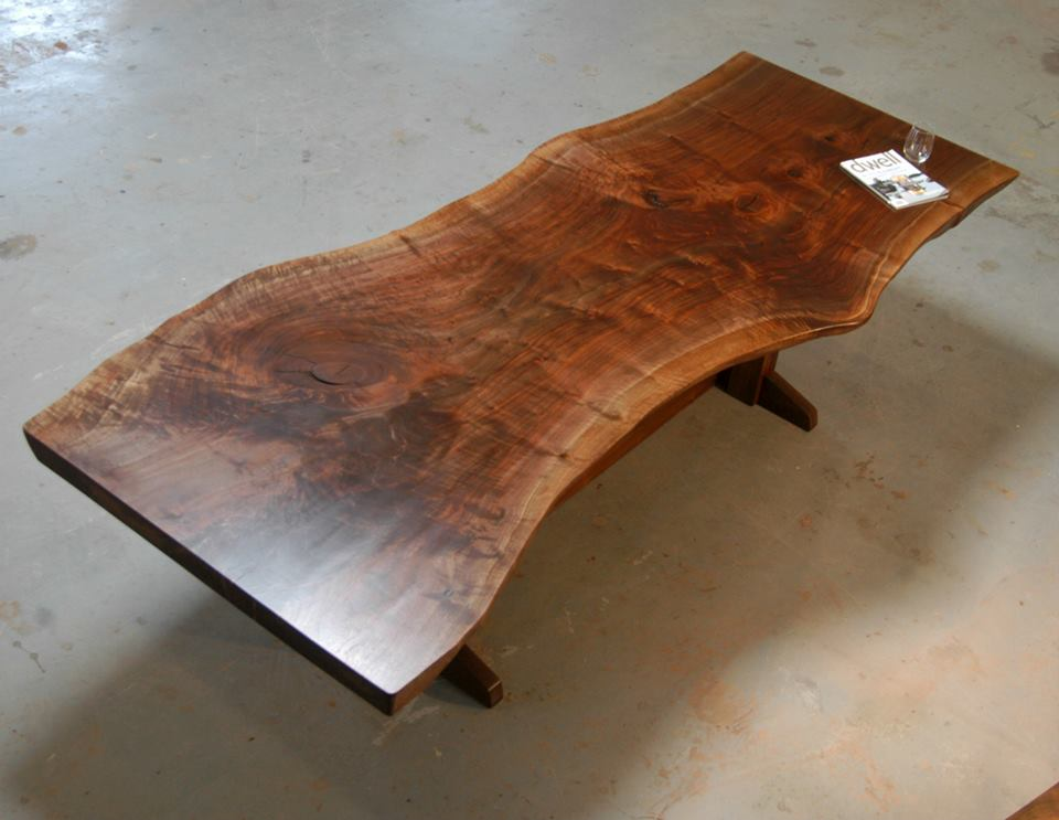 Superbe Black.walnut.slab.table