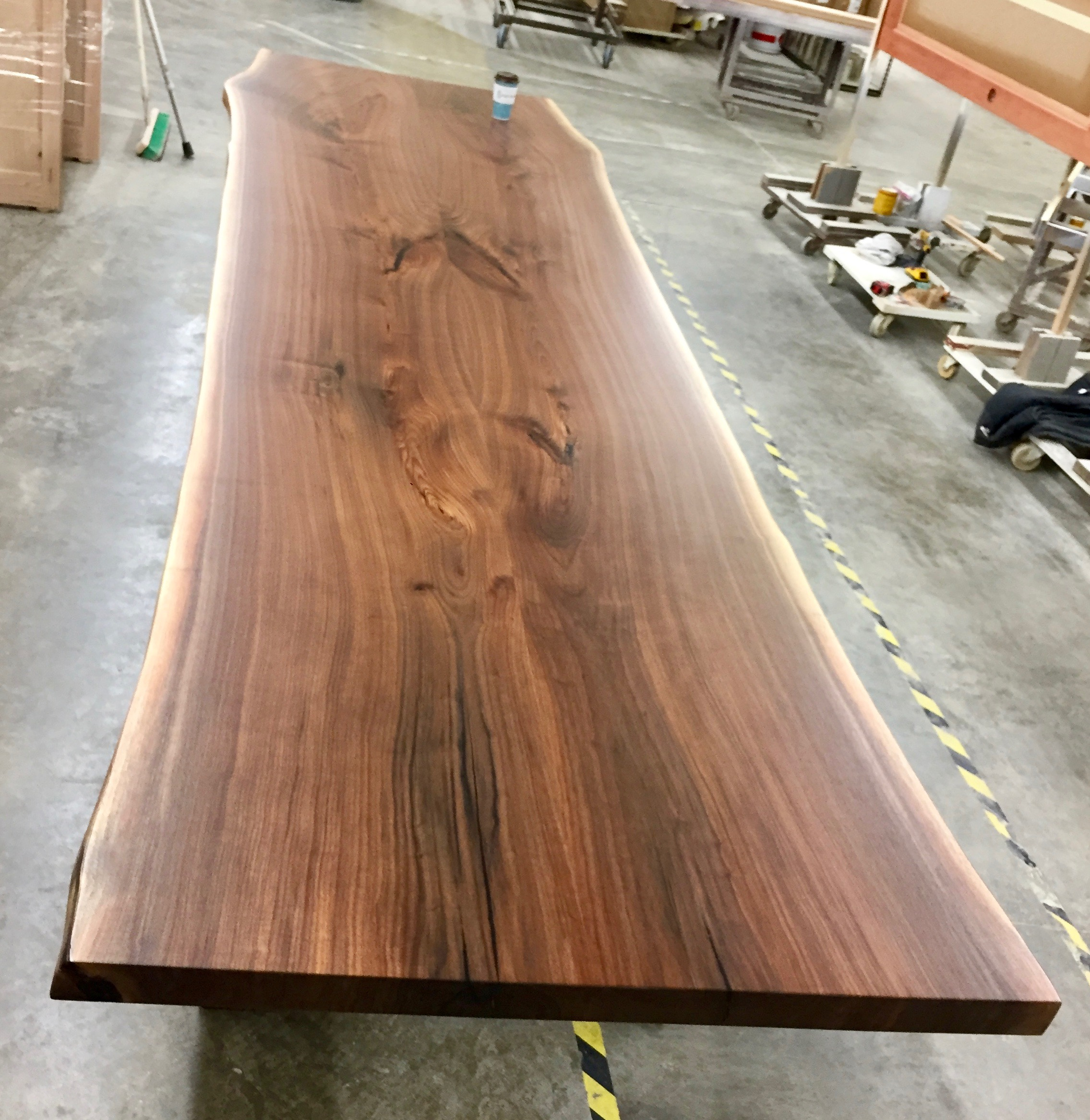 live transitional dining edge x wood table