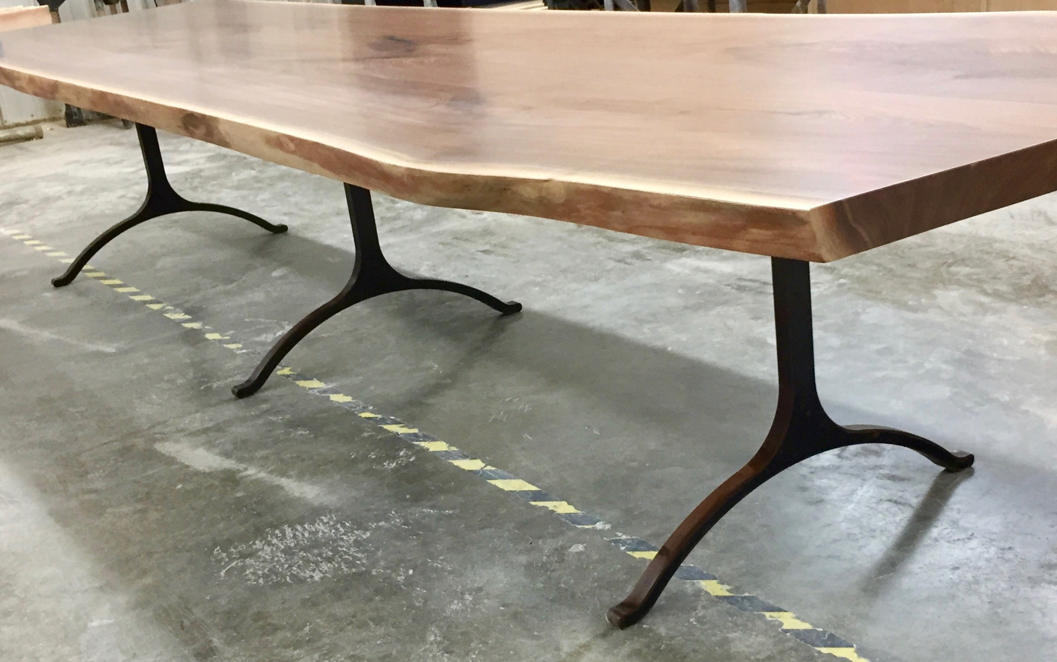 Giant black walnut live edge dining table