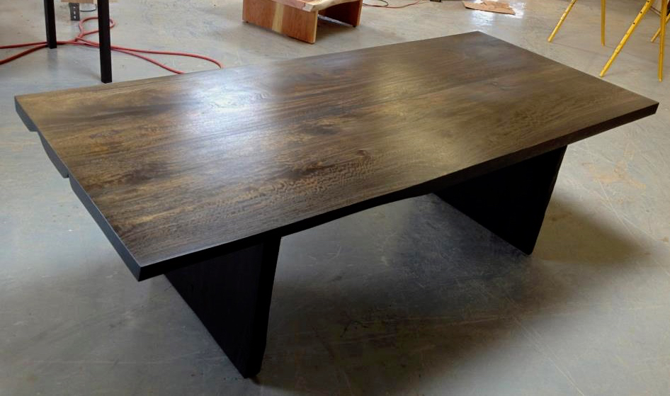 Wenge stain mango wood slab dining table bjorling grant