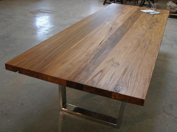 Teak Dining Table With Chrome Legs Bjorling Grant