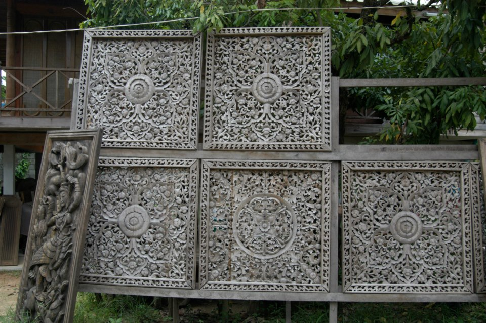 Thai carved panels
