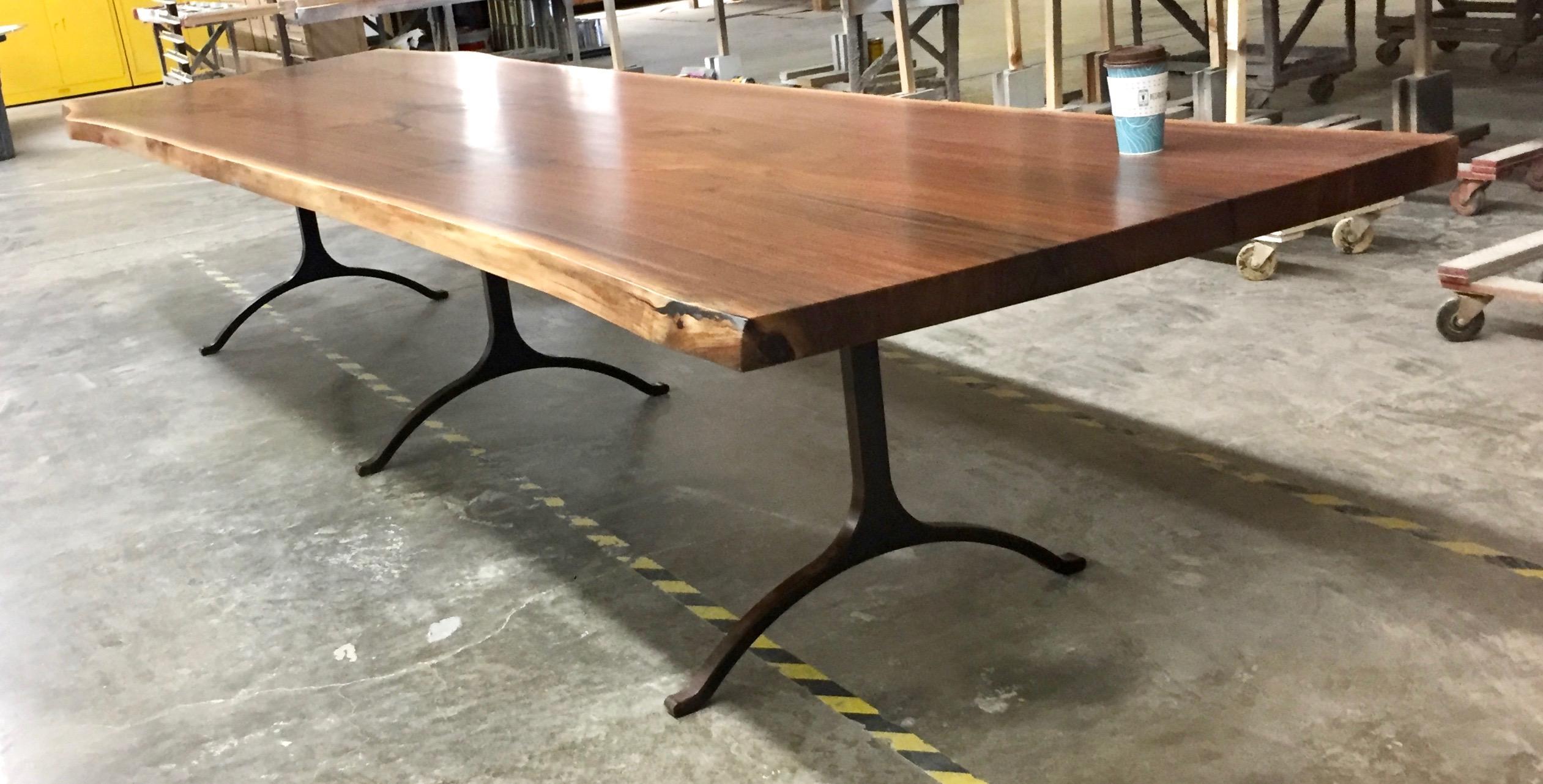 Giant Walnut Dining Table Jpg