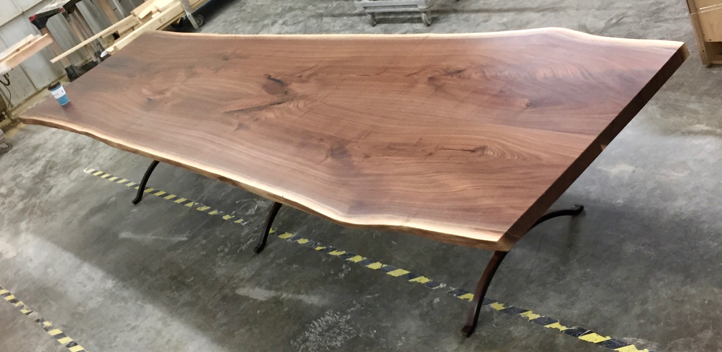 Fine Giant Black Walnut Live Edge Dining Table Bjorling Grant Download Free Architecture Designs Sospemadebymaigaardcom