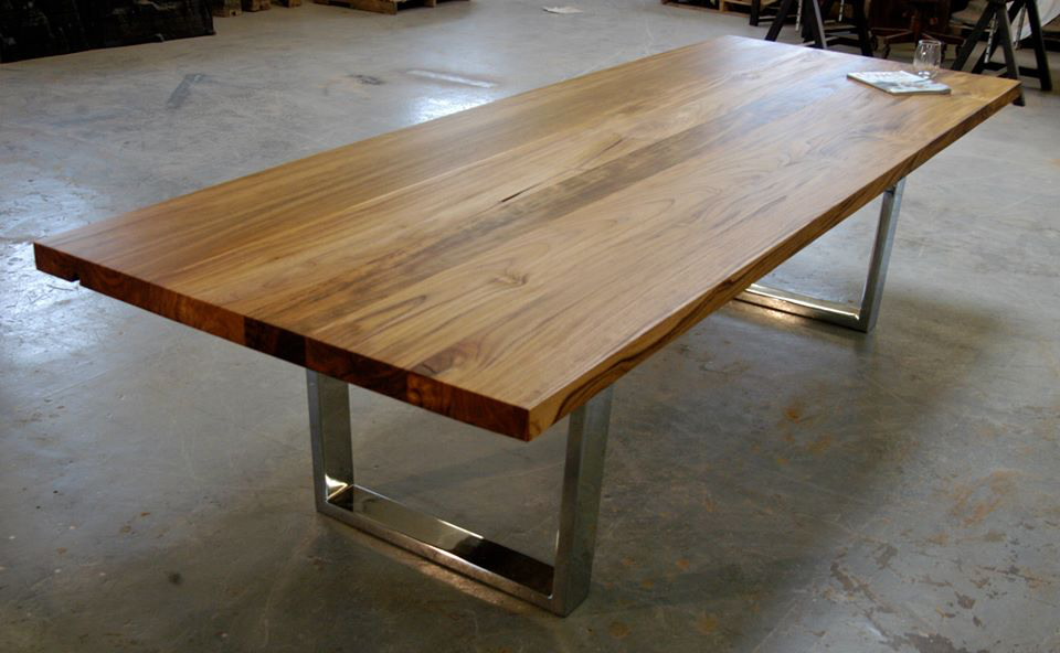 Teak Chrome Leg Dining 2 Jpg