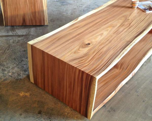Fabulous Monkeypod Full Waterfall Raw Edge Coffee Tables And Consoles Cjindustries Chair Design For Home Cjindustriesco